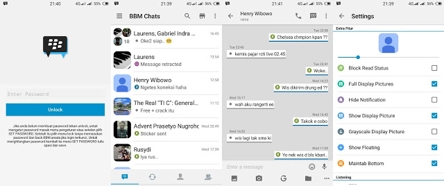Download BBM MOD Iphone Style IOS versi 3.0.1.25 apk