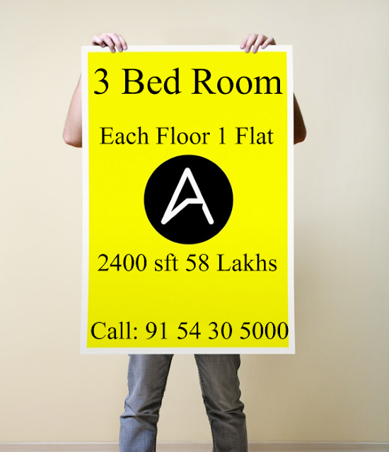 2400 SFT 3 Bed Room Flat For Sale at Amaravati Road (Each Floor 1 Flat)