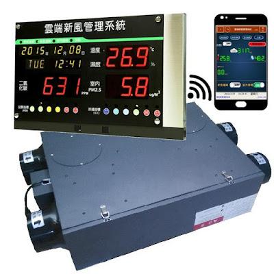 The fresh air machine-新風熱交換機- 新風熱交換器-IAQ 室內空氣品質偵測--通風除霾殺菌-全熱交換節能