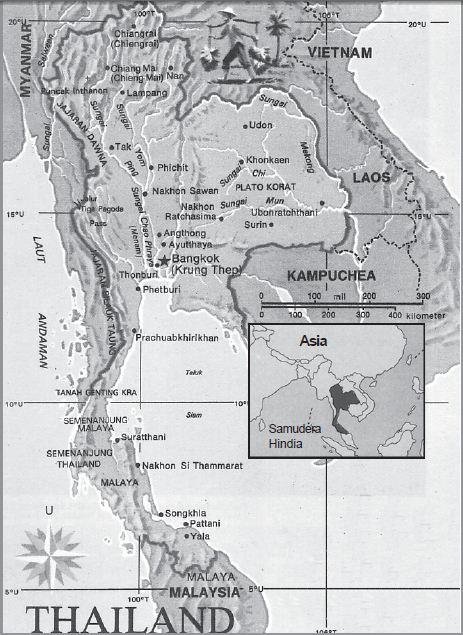 Letak Geografis dan Astronomis Thailand, Iklim, Bentang Alam, Keadaan Ekonomi Soasial Budaya serta Luas dan Batas Wilayah Negara Thailand