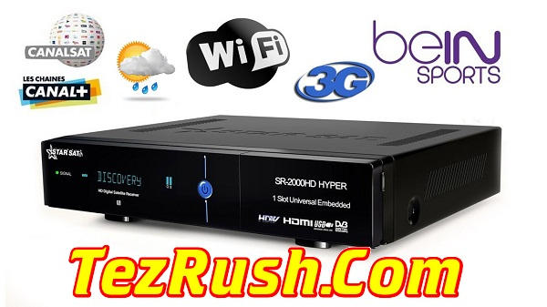 Starsat SR-2000HD Hyper Software 2018 Logo TezRush