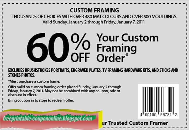 free printable michaels coupons - Michaels Frames Coupons