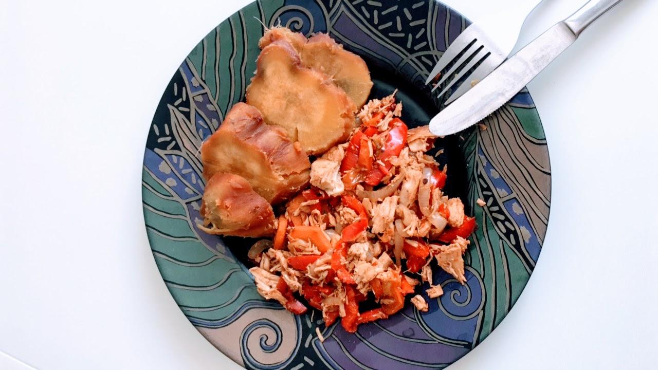 batata doce com atum