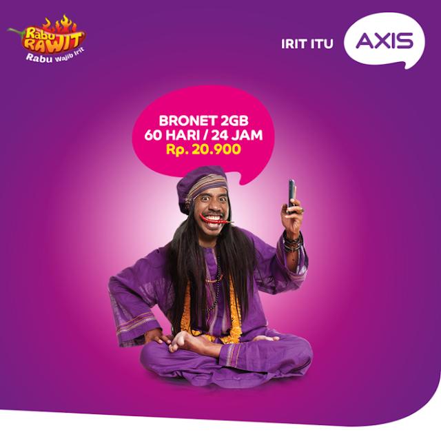 Membeli Produk Promo Paket Internet  Rawit Dari Axis