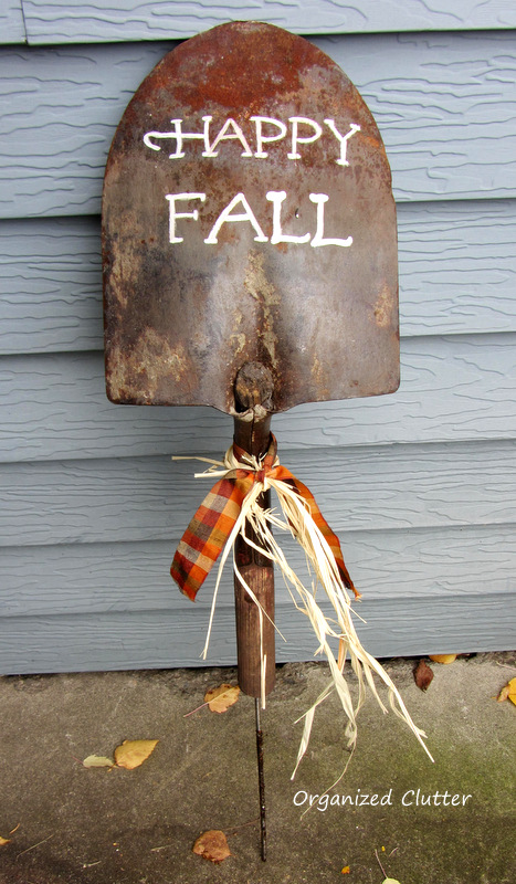 Shovel Head Fall Sign www.organizedclutter.net