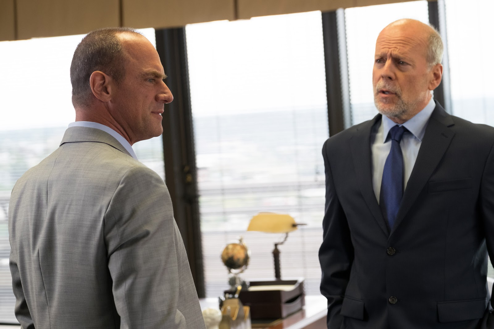 Christopher Meloni and Bruce Willis in MARAUDERS