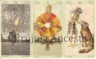 Hermitaño - Rueda - Fuerza del Tarot de los Nativos Americanos