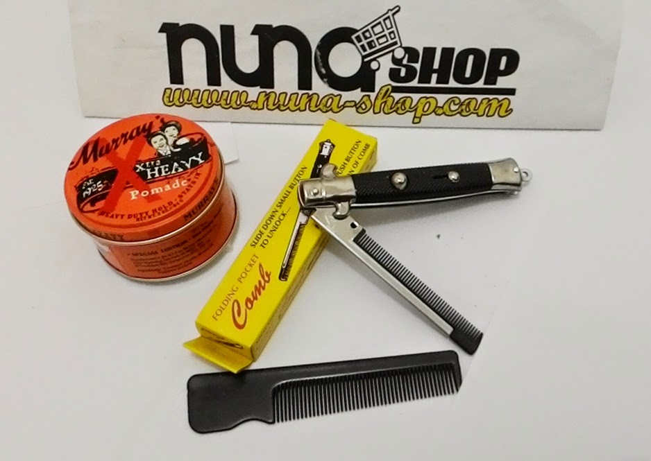 Paket Hemat Pomade Murray's X-Tra Heavy Special Edition + Switchblade Comb
