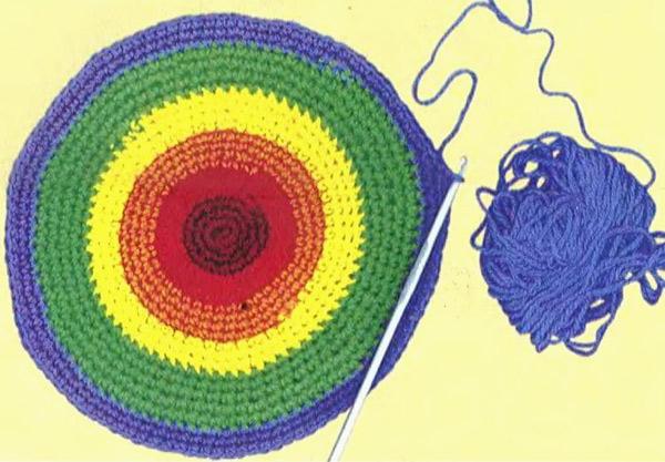 Cylindrical Rainbow Bag - crochet tutorial