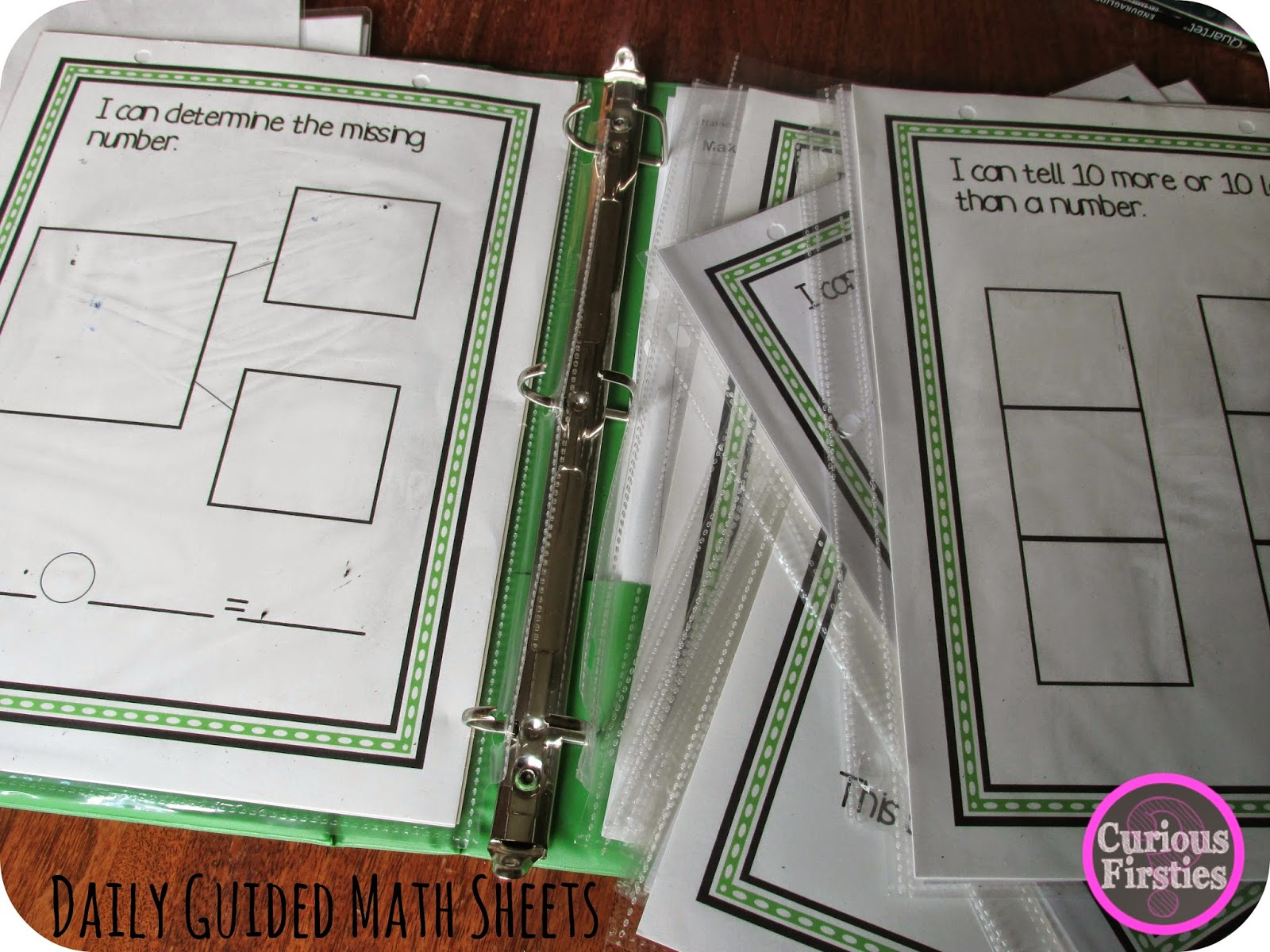 http://www.teacherspayteachers.com/Product/Daily-Guided-Math-Warm-Ups-First-Grade-Edition-812853