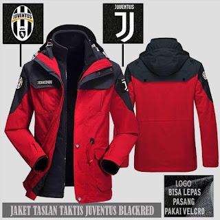 Jual Jaket Gunung Hoodie Waterproof Taktis Juventus Murah