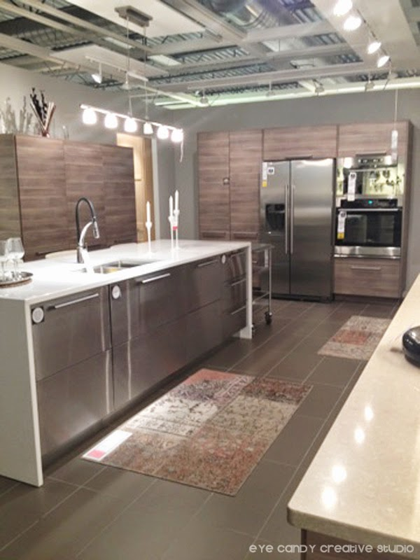 kitchen area, stainless steel appliances, IKEA kitchen ideas