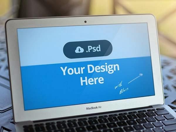 Free PSD Macbook Template