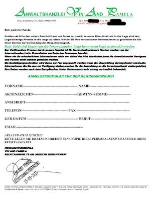 Anwaltskanzlei Vin and Pamela | Anmeldeformular | 16.09.2015