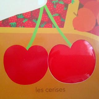 Mon imagier des couleurs à toucher - les cerises - Editions MILAN