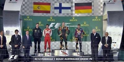 F1 - Australian GP 2013 - Raikkonen, Alonso & Vettel