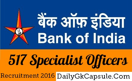 bankofindia.co.in-Bank of India Recruitment 2016