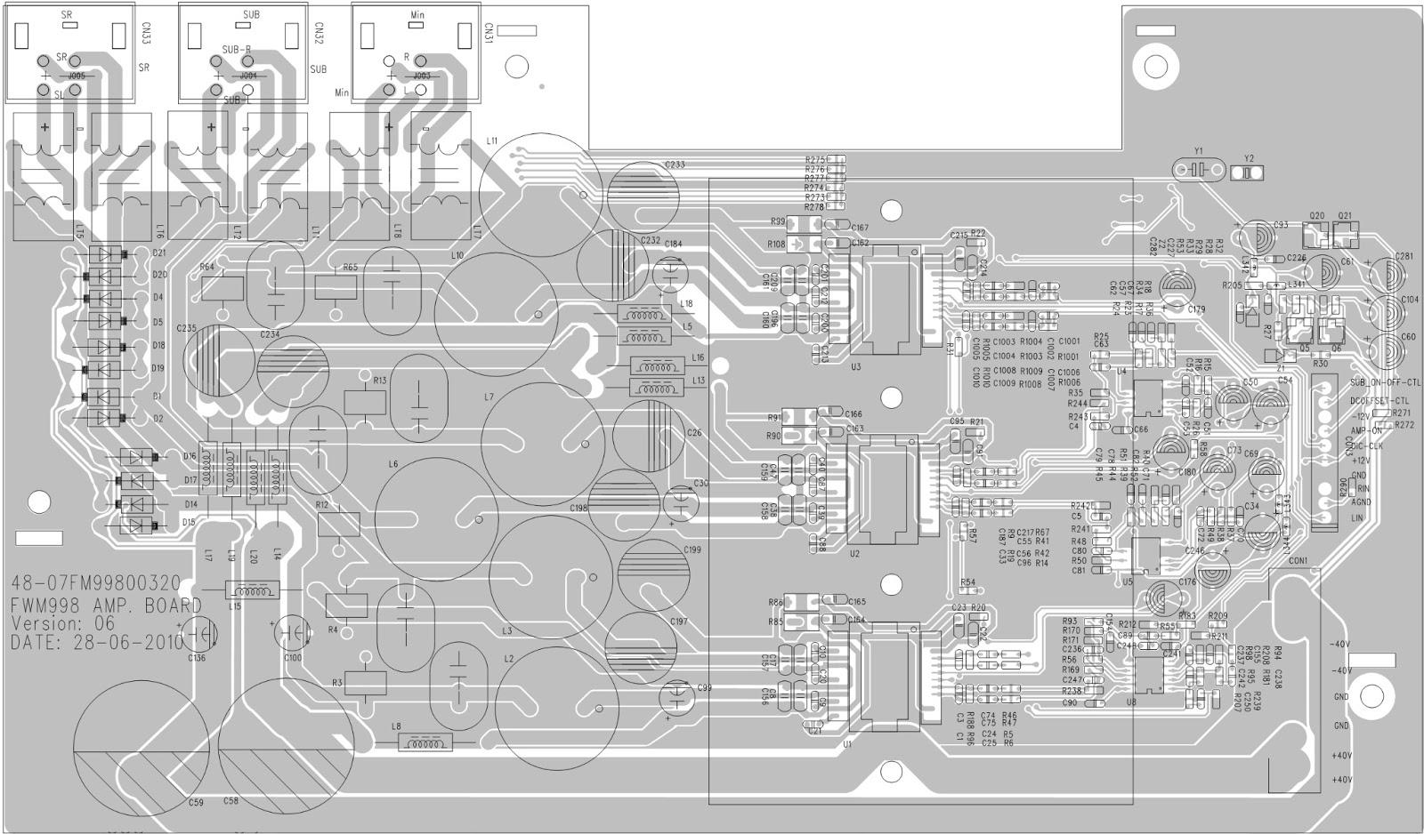 Philips Fwm 998 Circuit Diagram Amplifier Section