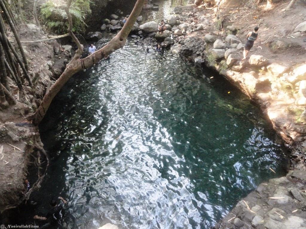Jernihnya air dipemandian Tirta Budi (Blue Lagoon) Jogja