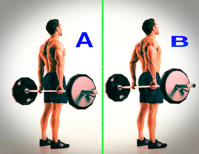 best trap workout, Behind the back barbell shrug