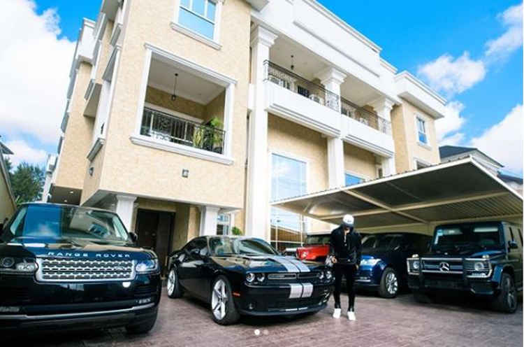#MondayMotivation: Mr P inspires fans with photos of mansion, fleet of cars