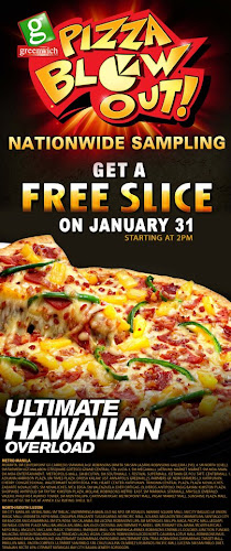 greenwhich FREE pizza