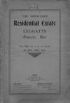 Scan of the Leggatts Estate auction brochure 1911