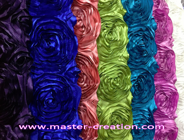 colorful rose flower satin cloth
