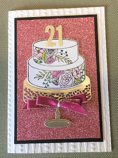 cake soiree card zena kennedy independent stampin up demonstrator