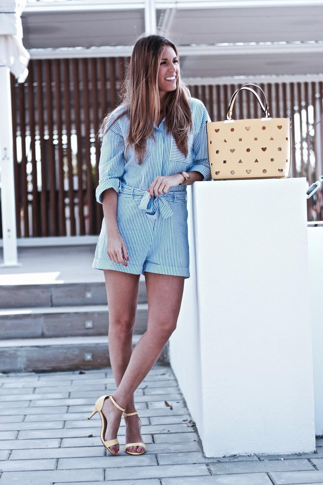 tendencia rayas azules y blancas