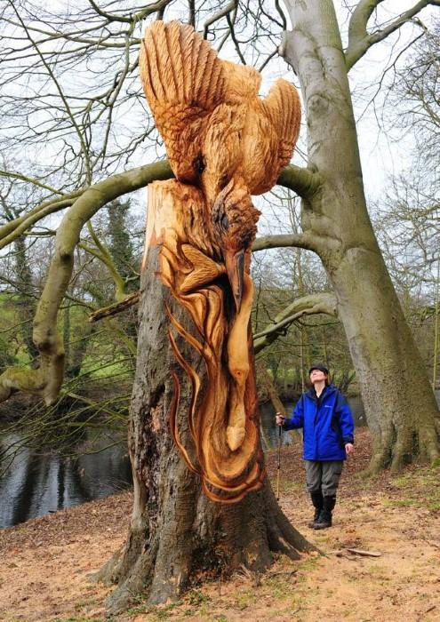 Скульптуры из дерева в Северном Йоркшире 6