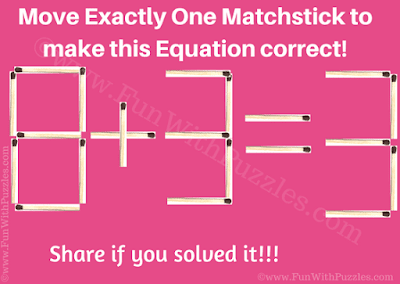 It is Matchstick Maths Problem in which you have to move just one matchstick to make this equation correct