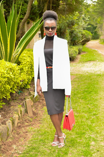 How to style a white cape