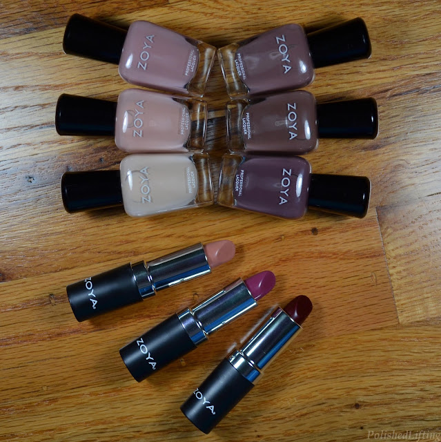 nail polish bottles lipstick