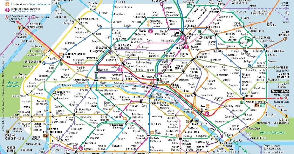 Cartina Parigi Con Monumenti E Metro.Mappa Metro Parigi Da Scaricare
