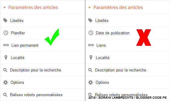 Différence entre article planifié et article publié dans l'éditeur.