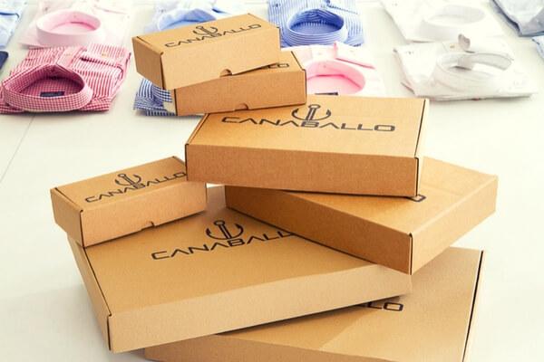 cajas para camisas y complementos