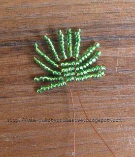 Китайская веерная пальма из бисера. Мастер-класс