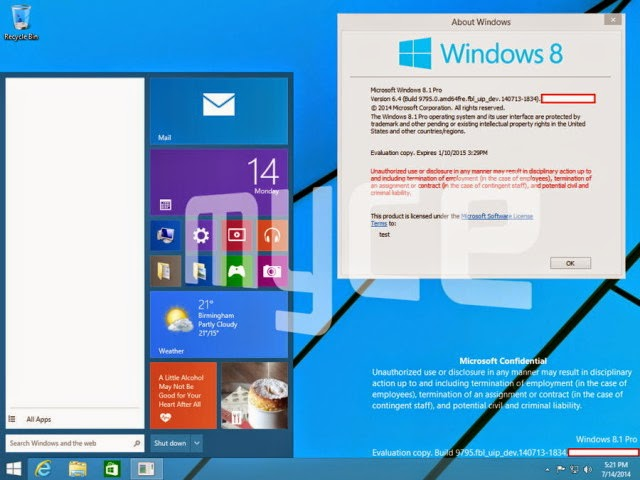 Windows 9, Download windows 9, Free download Windows 9, Windows 9 leaked