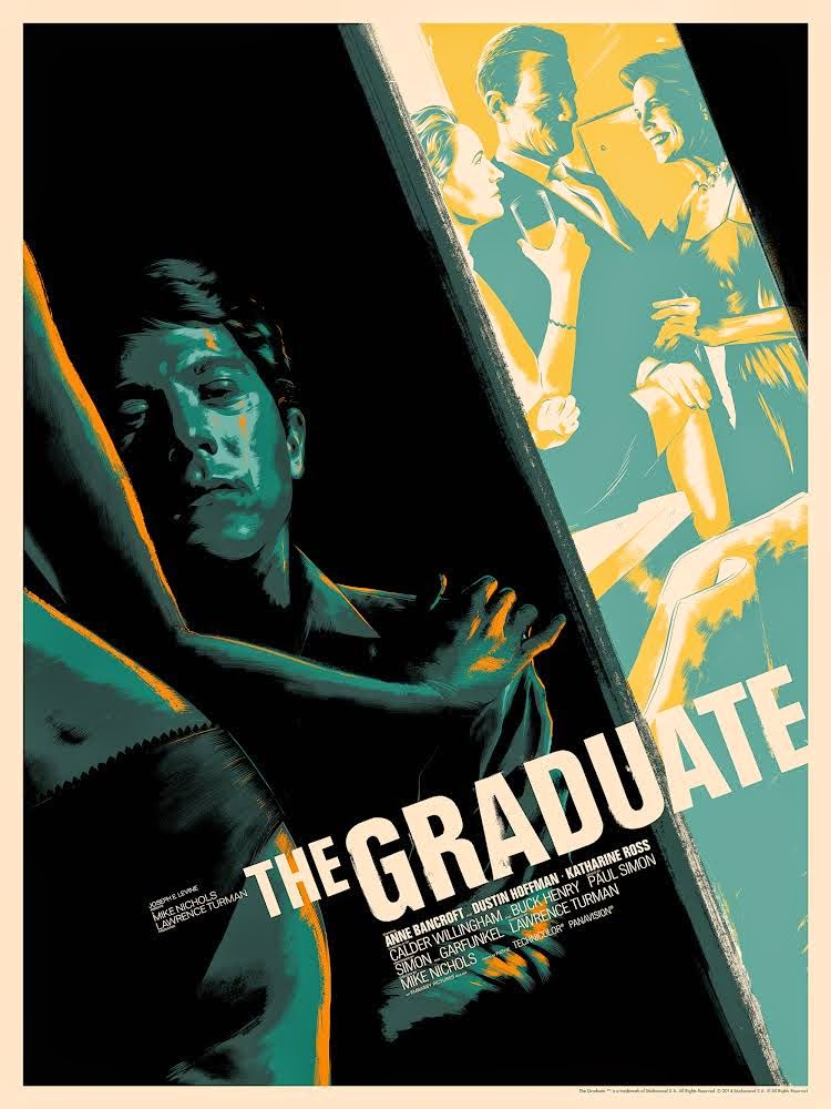 The Graduate Variant Screen Print by Matt Taylor