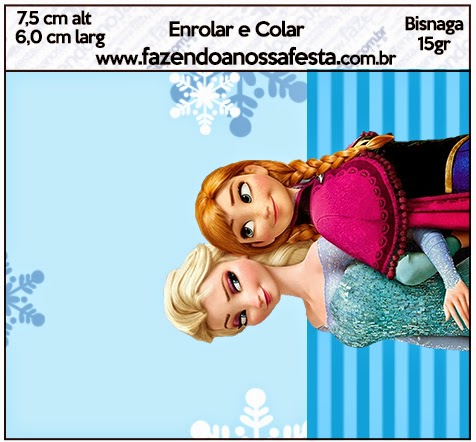 Etiquetas para Imprimir Gratis de Frozen Navidad Azul.