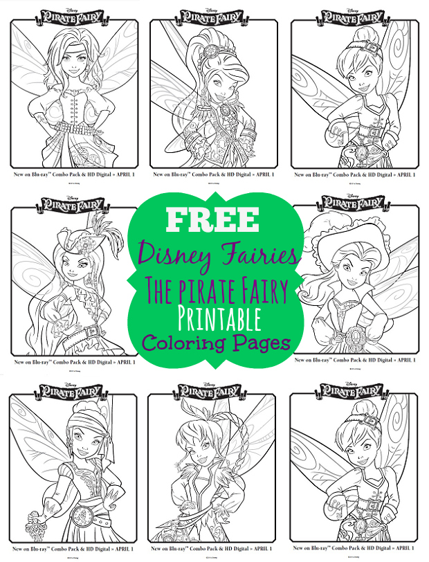 One Savvy Mom ™ NYC Area Mom Blog: Disney Pirate Fairy Free Printable  Coloring Pages - Grab A Box Of Crayons!