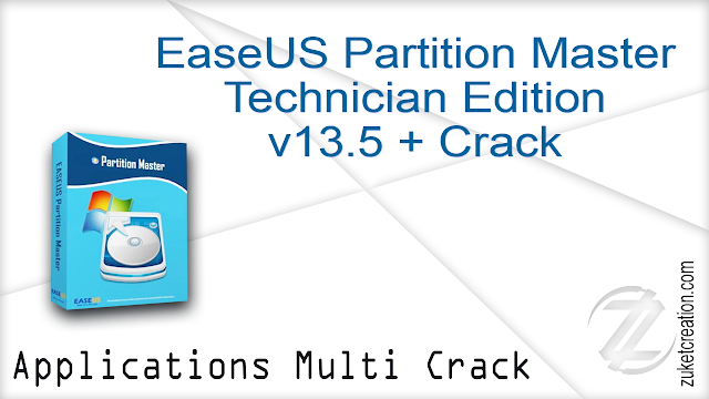 EaseUS Partition Master Technician Edition v13.5 + Crack   |  36.9  MB