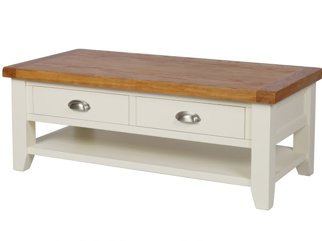 Famous Large Oak Coffee Table With Drawers Top Photo Resource