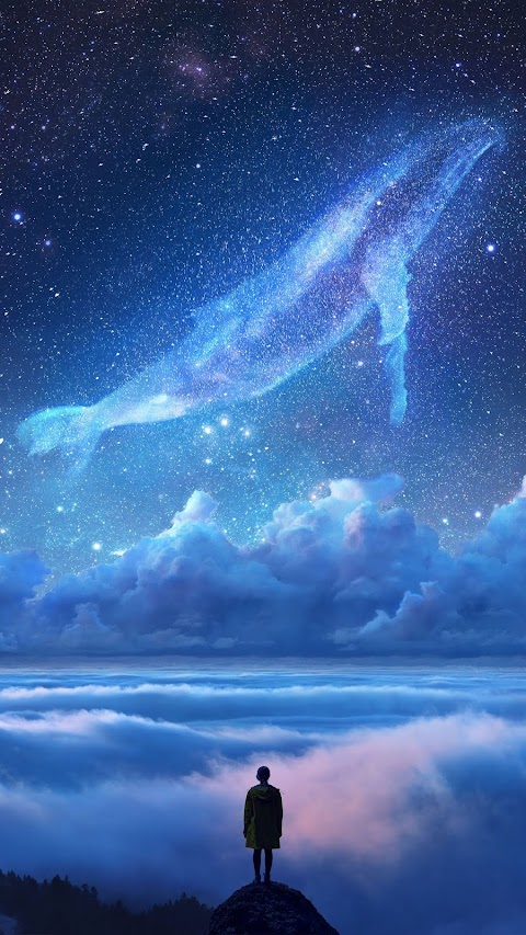 mystical whale wallpaper