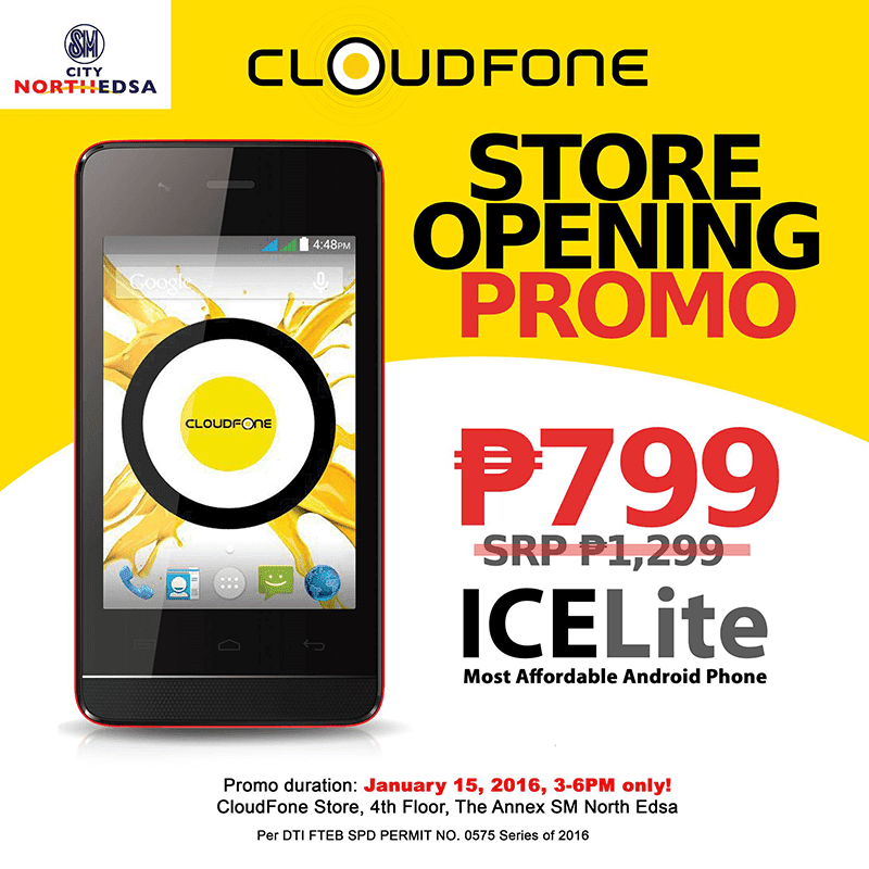 CloudFone Ice Lite SM North Edsa sale