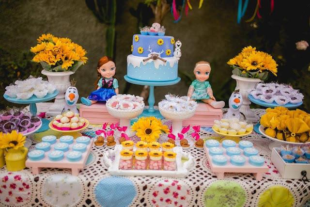 festa frozen fever girassóis diy e decoração na caixa bh que seja mágico