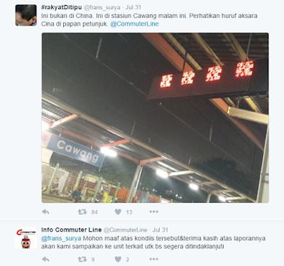 Provokasi LCD Rusak Stasiun Cawang