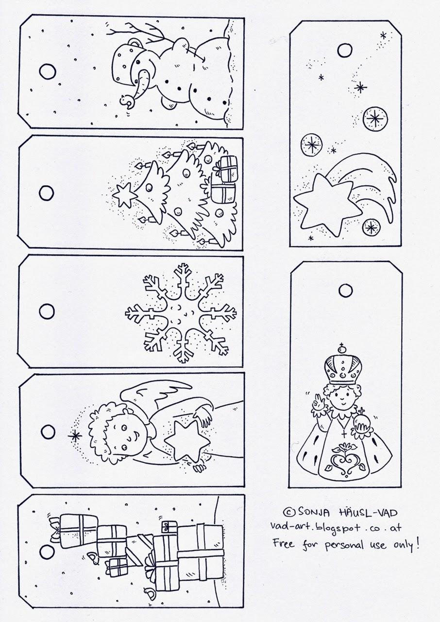 Vánoční omalovánky - šablony zdarma