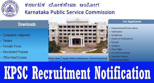 KPSC Recruitment kpsc.kar.nic.in Notification Online Registration